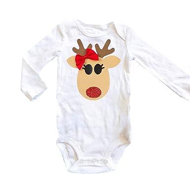 Amazon.com Olive Loves Apple Baby Christmas Onesie Baby