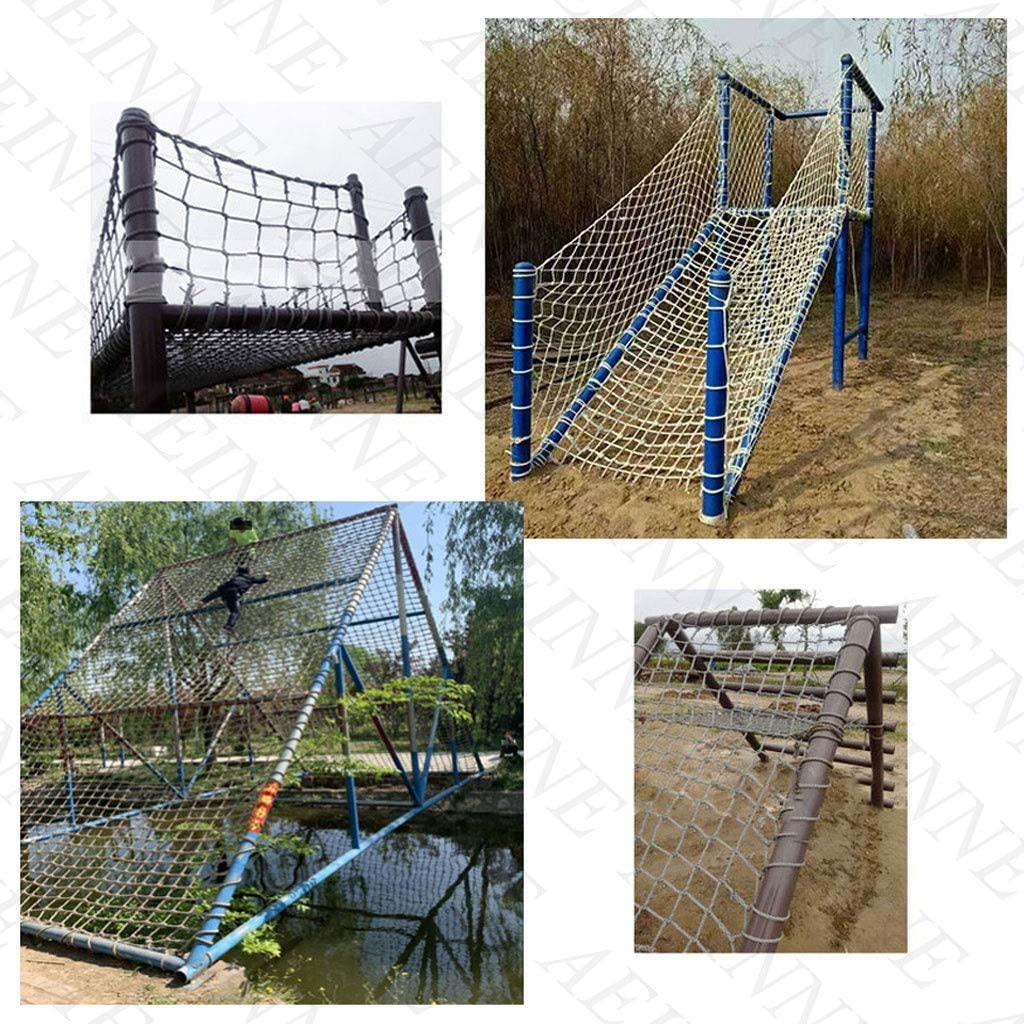 Safety Net Climbing,Rope Net Netting Climbing Nets for Kids Cargo Net Playground Rock Rope Ladder Swing Sets Climb Nylon Climbers Structures Truck Trailer Nets Giant Heavy /Duty Large Mesh,for Kids Ad