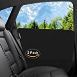 Pet Car Door Cover By Starling's: Waterproof Polyester Protector For Back Seat Doors, 3 Extra Pockets, Anti Scratch And Machine Washable, Easy To Install, Safe For Dogs, Suitable For All Vehicles