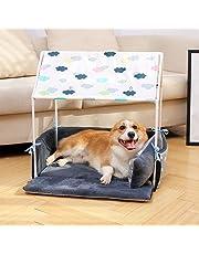 LA VIE Tienda Casa para Mascotas Extraíble Lavable con Almohada y Luz de Noche Teepee Nido