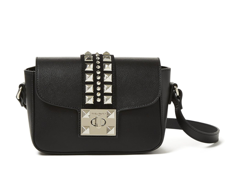 5cedce7a64 Valentino by Mario Valentino Palmellato Yasmine Leather Shoulder Bag - Black:  Handbags: Amazon.com