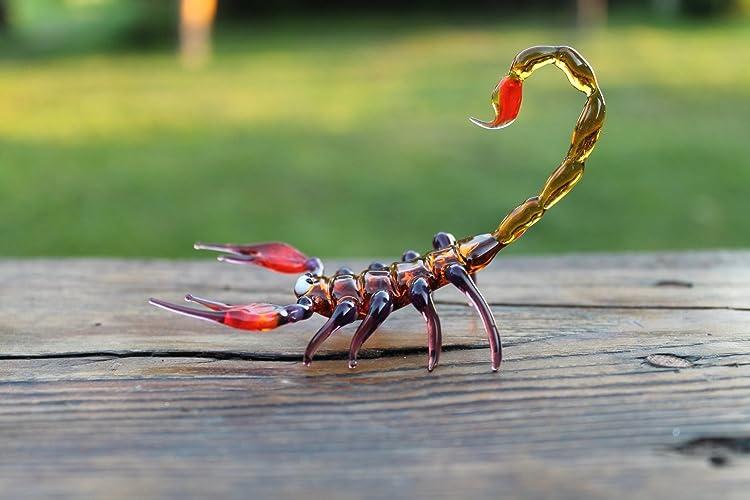 Scorpion Glass Figurine Handblown Scorpio Colorful Insect -Unique Home Decor or Gift