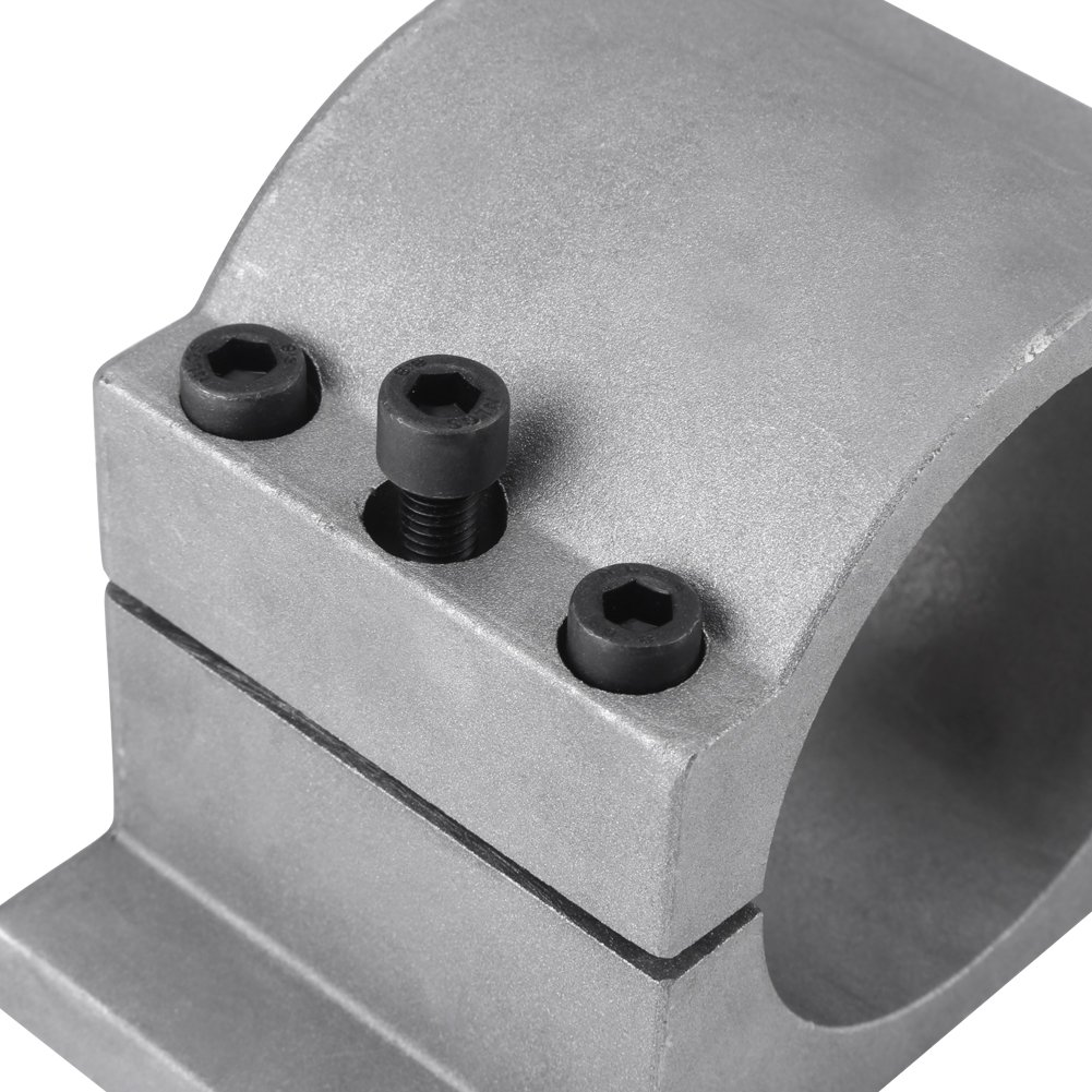 Fixation de diam/ètre de machine de gravure 52//65mm Bride de support de montage de moteur de broche en aluminium moul/é pour machine de gravure CNC 52MM