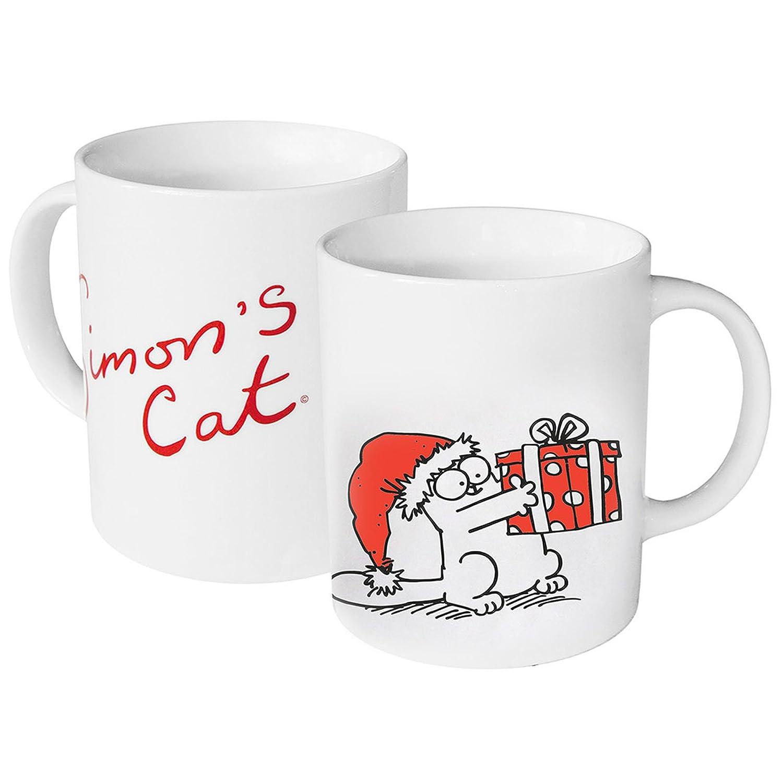 Simon´s Cat Weihnachtstasse 'Katze mit Geschenk'