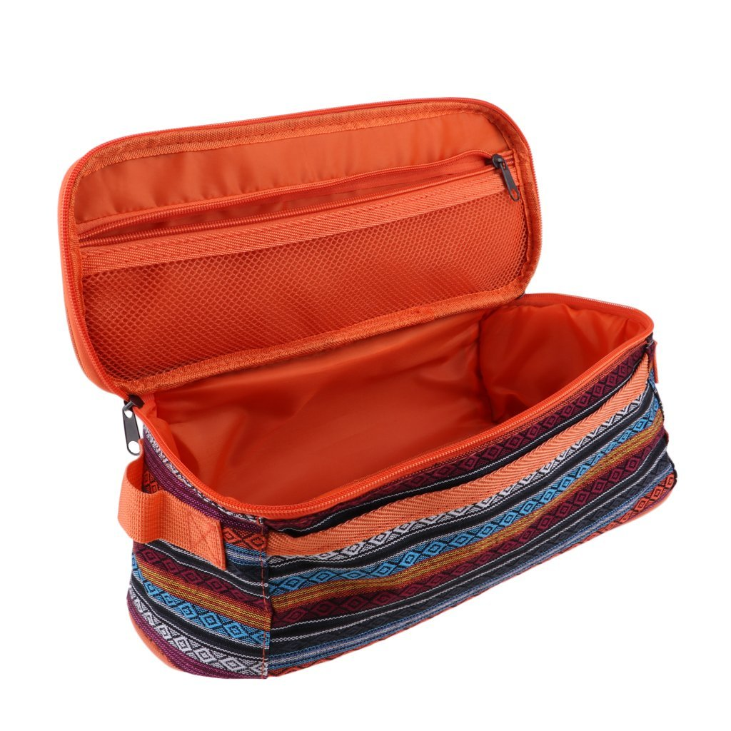 Baoblaze Outdoor Camping Storage Bag Package Kitchen Utensils Carry Container Travel Cosmetics Pack Hiking Orange