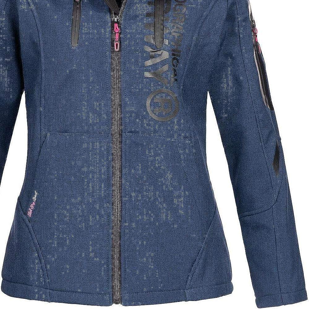 Geographical Norway Damen Softshell-Jacke Truffe mit Kapuze