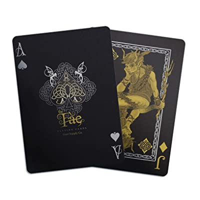 Creatures of The FAE Playing Cards by Gent Supply - Black, Gold & Silver Edition: Sports & Outdoors