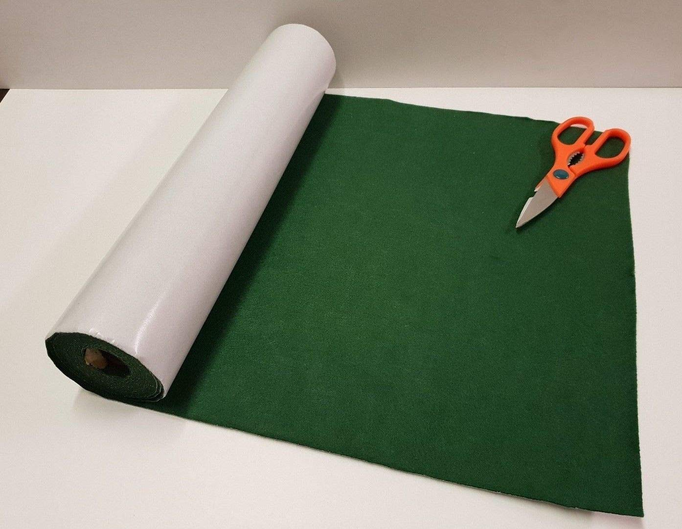 One Metre x 450mm Wide roll of Green Sticky Back SELF Adhesive Felt/Baize GCH