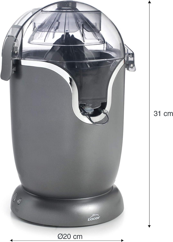 Lacor 69520 Presse-agrumes /électrique en acier inoxydable enti/èrement automatique sans BPA 400 ml