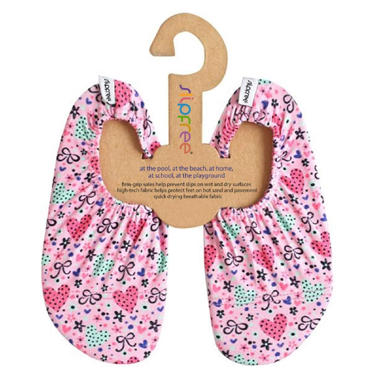 Slipfree Beach and Pool Shoes (X-Small, Bow)