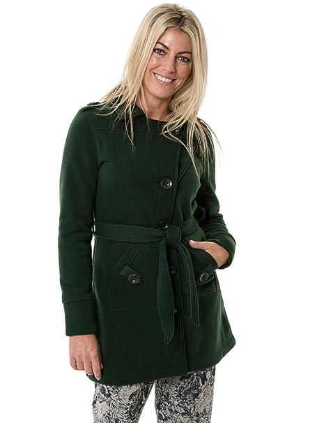 Jaden Abrigo, Mujer, Verde (Dark Green), 46 (Tamaño del Fabricante:XXL): Amazon.es: Ropa y accesorios