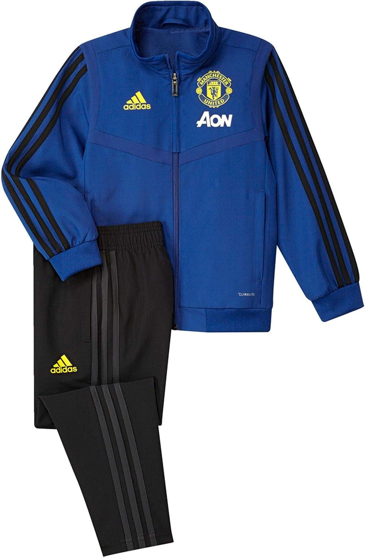 adidas MUFC Pre Suit I Chándal, Unisex niños, Reauni/Negro, 110 ...