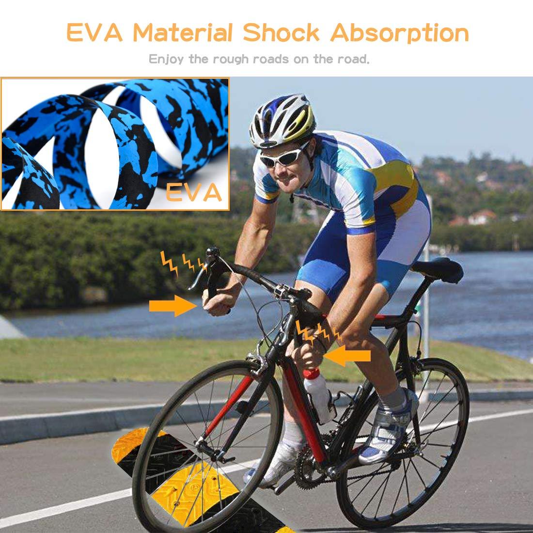 Cintas De Manija De Ciclismo Con Tapones De Extremo De Barra MOAMUN Cintas De Manillar De Bicicleta De Carretera Cintas Cinta De Barra De Bicicleta De Bicicleta Coj/ín De Goma Antideslizante Y Amortiguador