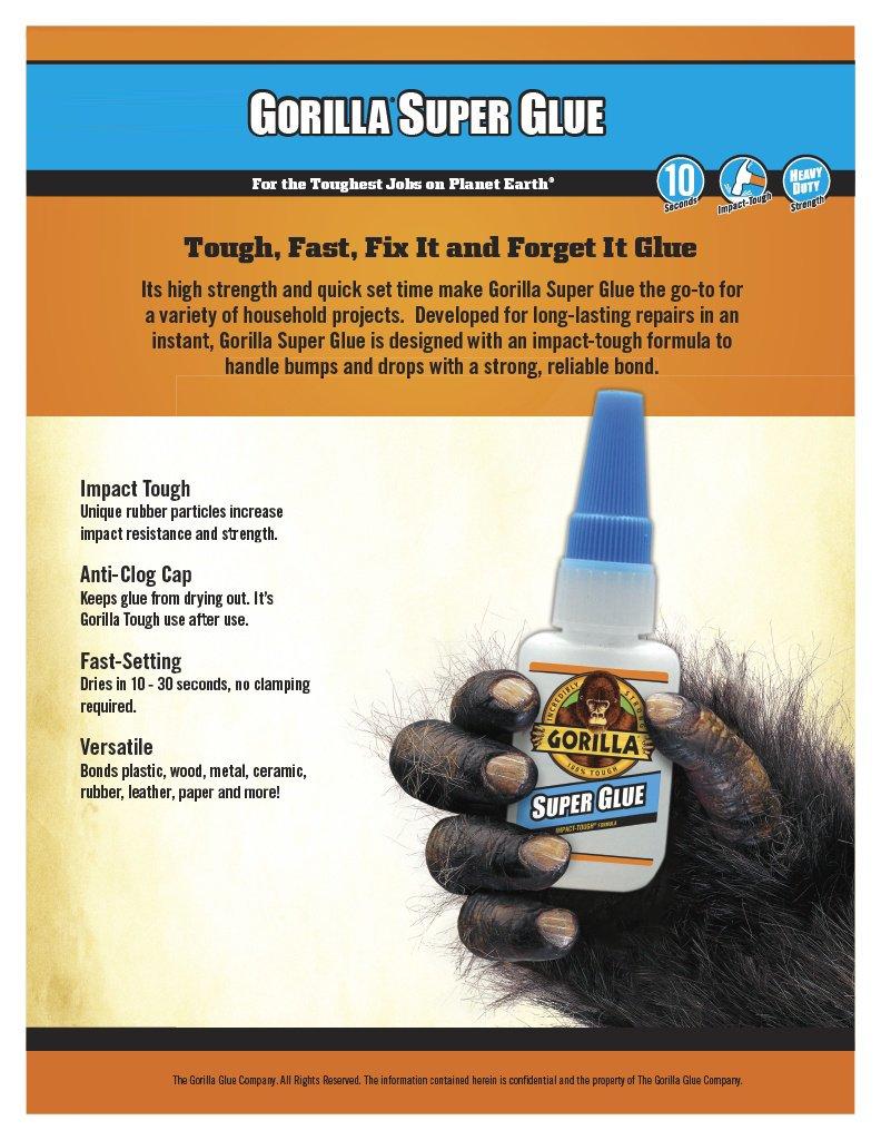Gorilla Super Glue, 6 g, Clear, (3 Pack) by Gorilla (Image #3)