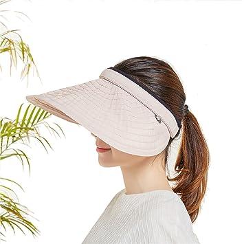 Amazon.com  Sllxgli new sun hat summer face big face round thin head ... 549827e136e7