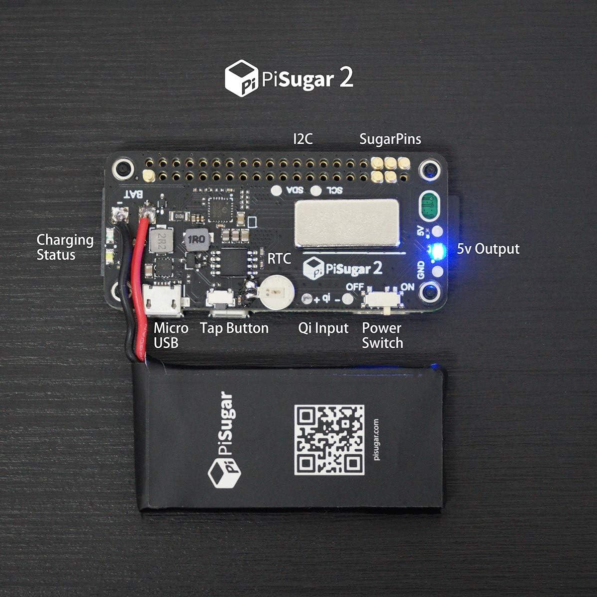 Not Include Raspberry Pi Pisugar2 Portable 1200 mAh UPS Lithium ...
