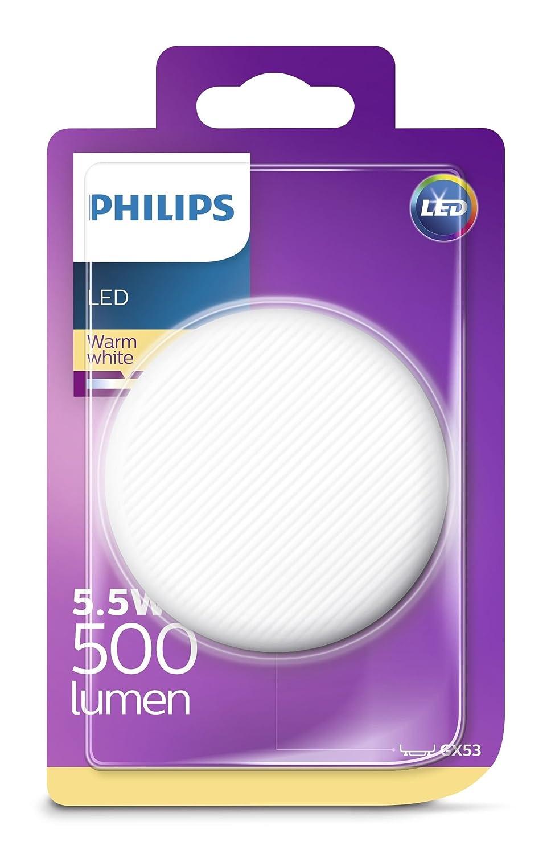 Philips 8718696724576 Bombilla LED GX53, luz blanca 5.5 W: Amazon.es: Iluminación