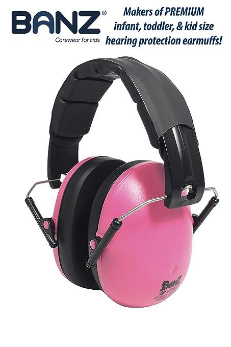 "Ear Muffs Age 3 Months Plus/"" Pink/"" Kids Banz Ear Defenders"