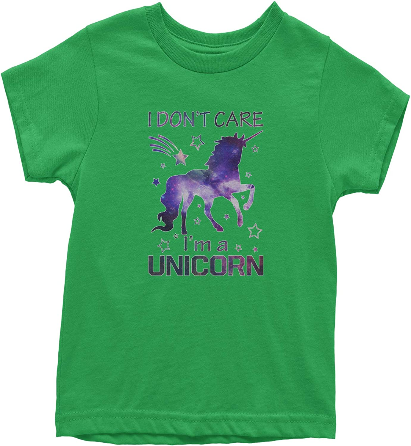 Im A Unicorn Galaxy Print Youth T-Shirt Expression Tees I Dont Care