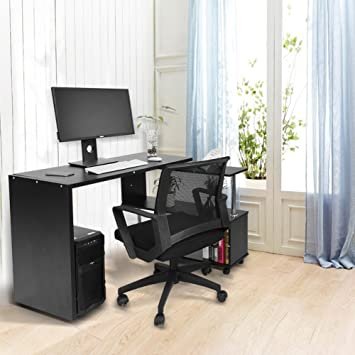 EBTOOLS - Mesa de Ordenador con Forma Ajustable, Mesa para ...