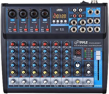 Amazon.com: PMXU83BT - Mesa de mezclas de audio profesional ...