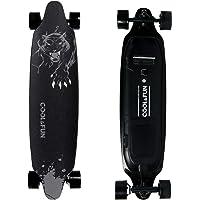 Cool&Fun Electrico Skateboard Elettrico Longboard con Telecomando Senza Fili (Leopardo)