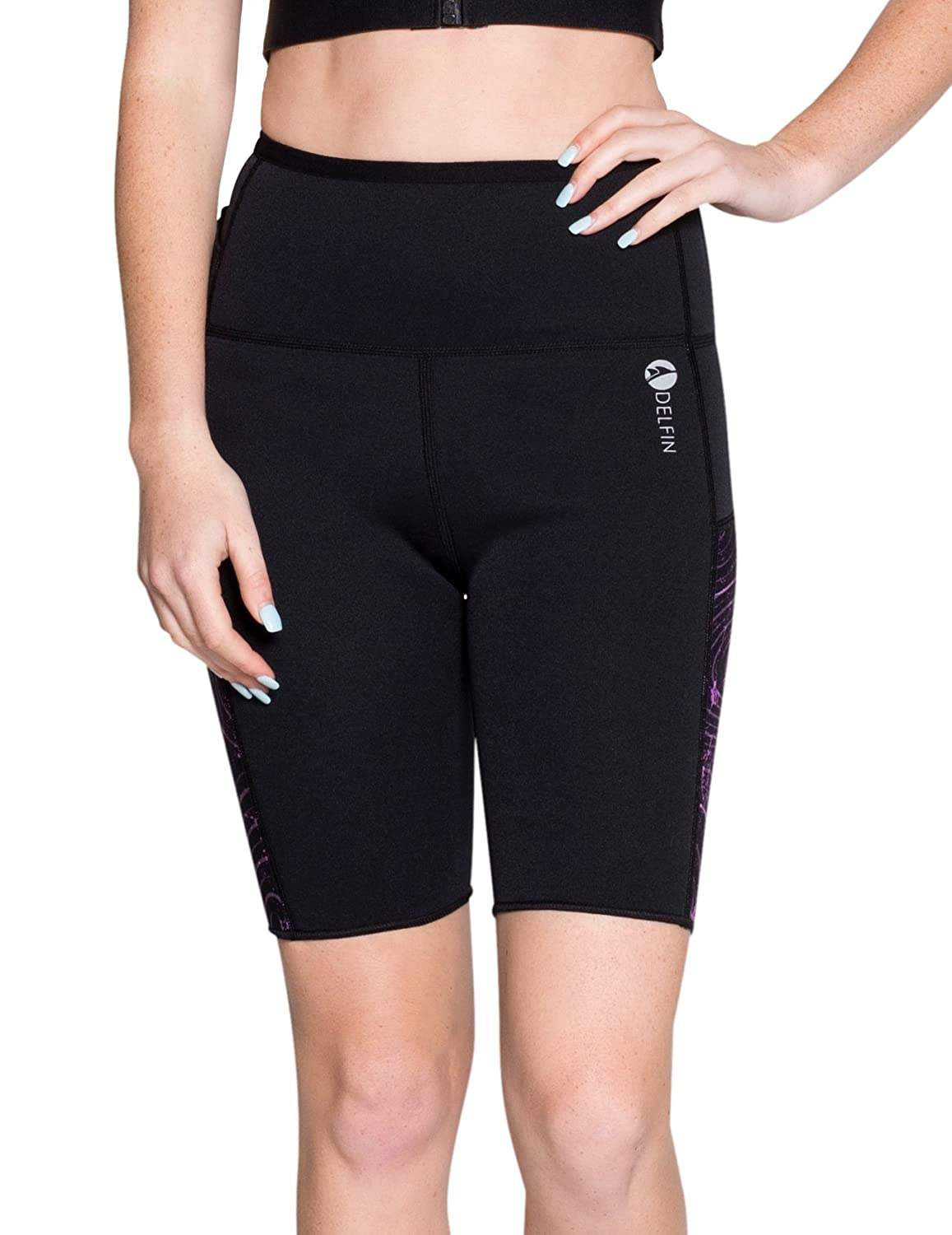 Delfin Spa Women's Heat Maximizing Neoprene Fitness Shorts - Petite thru Plus