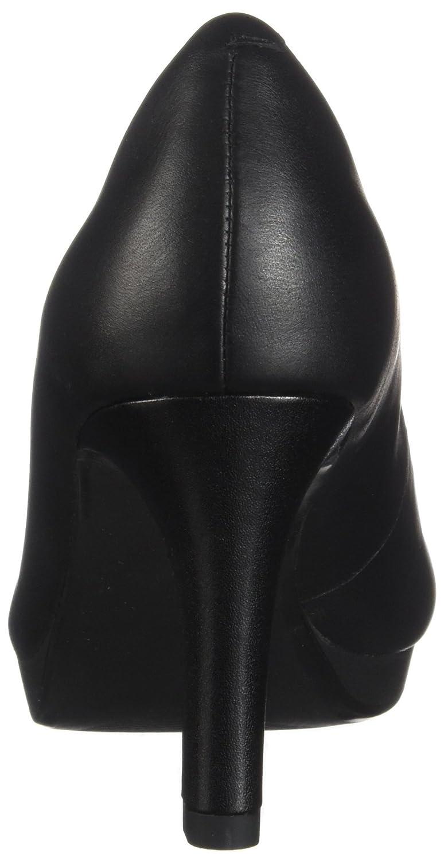 Clarks Clarks Clarks Damen Adriel lila schwarzes Leder 39.5 M EU 300faf