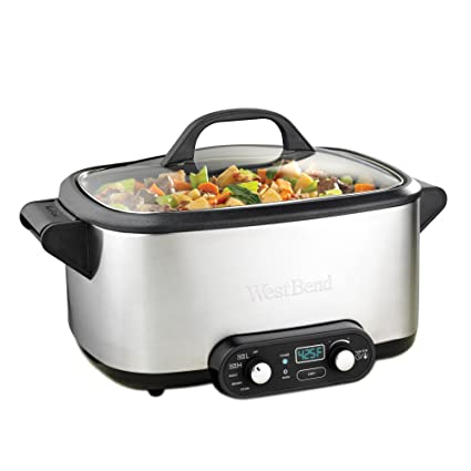 Amazon.com: West Bend 4-in-1 Multicooker Slowcooker, 7-Quart ...