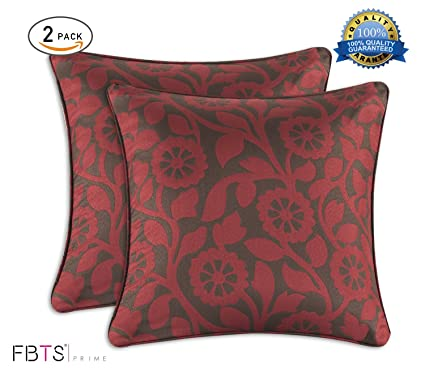 Amazon FBTS Prime Throw Pillow Cushion Covers 40Piece 40x40 Custom Red And Brown Decorative Pillows