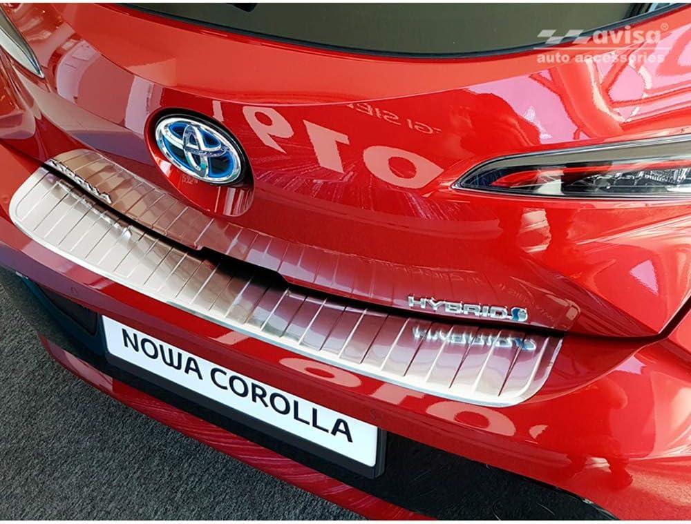Avisa 2 35420 Edelstahl Heckstoßstangenschutz Kompatibel Mit Toyota Corolla Xii Hb 2019 Ribs Auto