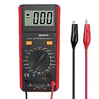 LCR Meter Digital Kapazität Induktivität Widerstand Tester mit Batterie Krokodilklemme Tasche LCR Tester Meter Rot