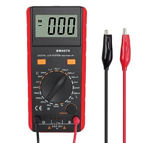 Medidor de Resistencia de Inductancia de la Capacitancia Digital LCR con Batería Bolsa con Pinza de
