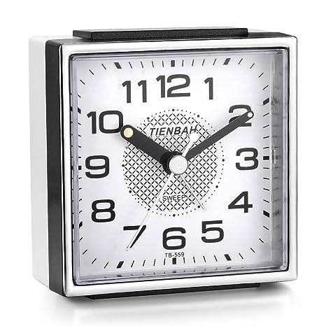 Amazon.com: Juboos - Reloj despertador cuadrado de viaje ...