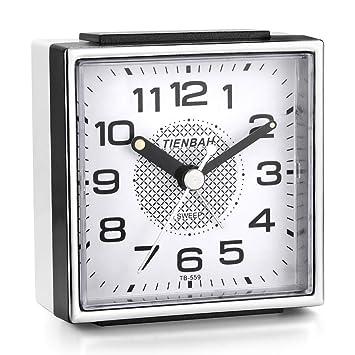 Relojes de alarma para niños Niños, Relojes de alarma Relojes de alarma analógicos para niños Sin garrapatas Reloj de alarma silencioso con luz ...
