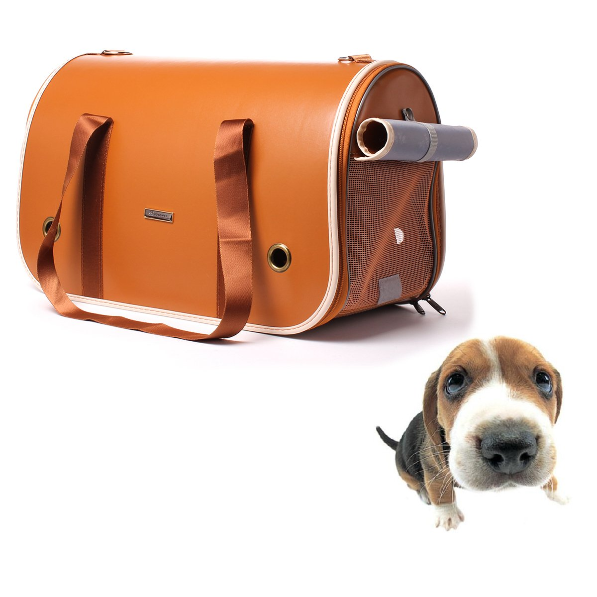 Ezeso Puppy Pet Carrier Airline Approved Soft Sided Dogs Cats Carriers Foldin..