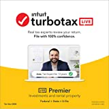 TurboTax LIVE Premier, Tax Experts and CPAs on Your Screen to help plus Final Review, 2020 Tax Software Online, Federal + Sta