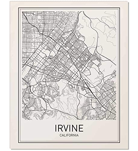 Amazon.com: Irvine Poster, Irvine Map, Map of Irvine, City ...