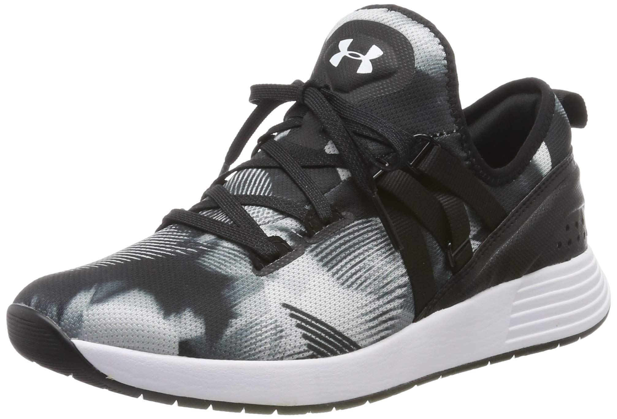 Under Armour Women's Breathe Trainer Print Cross, Black (001)/White, 5 by Under Armour