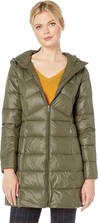 72b14208fd3 Lauren Ralph Lauren Women's Combo Quilted 3/4 Soft Down Jacket w/Hood Soft  Loden X-Small at Amazon Women's Coats Shop
