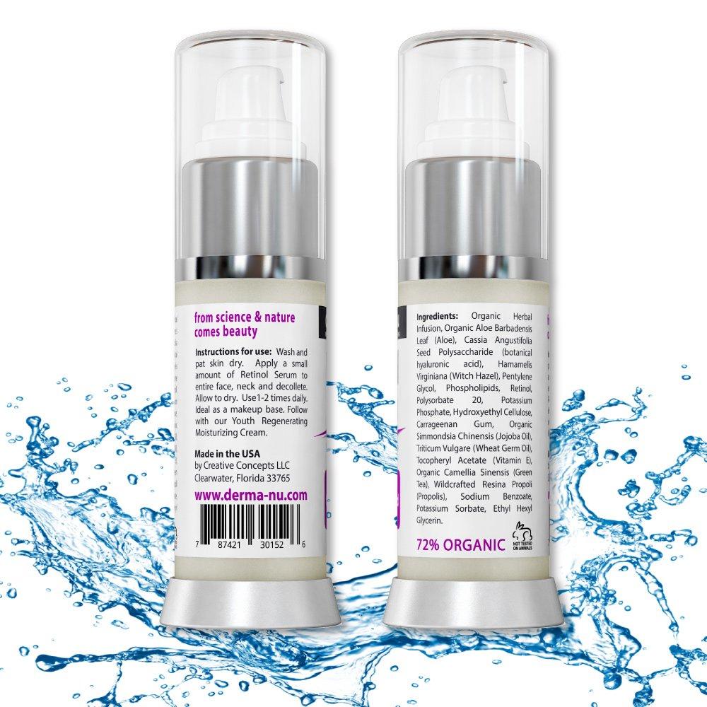 Retinol amounts in moisturizers - Amazon Com Retinol Serum 2 5 With Hyaluronic Acid Serum Vitamin E By Derma Nu Best Anti Aging Serum For Fine Lines Wrinkles Clinically Proven Skin