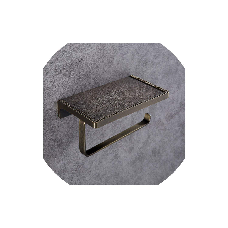 Green Bathroom Accessories Shelf Silver Toilet Paper Brass Holder Wall Mount Single Tier Storage,gold