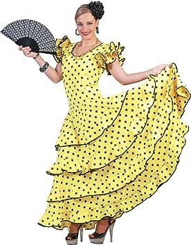 Vestido de traje de flamenco para Samba para mujer: Amazon.es ...