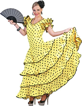 Flamenco Kostüm Kleid Kinder Spanien Spanierin Mädchen Spanier Seniorita Samba