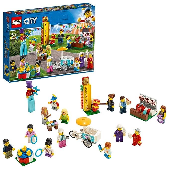 LEGO City Town - Pack de Minifiguras: Feria, Juguete de Construcción con Divertidos Personajes para Jugar (60234): Amazon.es: Juguetes y juegos