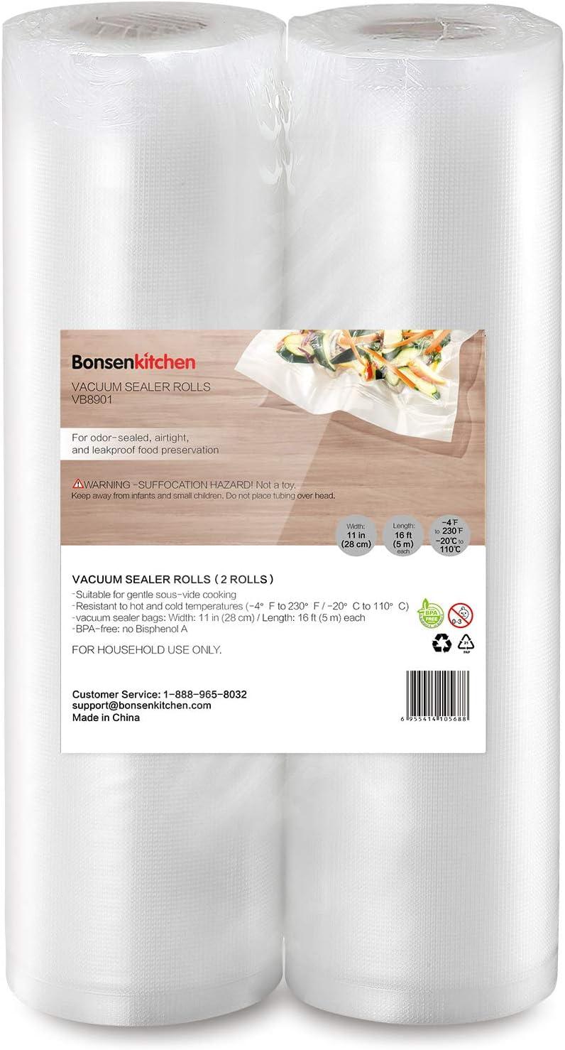 Bonsenkitchen Vacuum Sealer Rolls Bags, 2 Packs 11