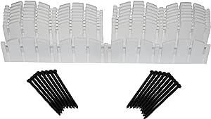 Dimex 3600WT-15C-6 Decorative Adirondak No-Dig Landscape Edging Kit-White