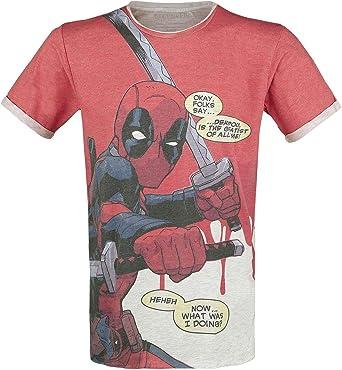 Deadpool Camiseta para Hombre cómico más Grande de Todos los ...