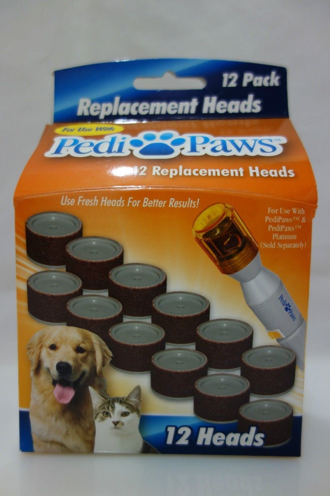 New Hot Pedi Paws Nail File Trimmer Replacement Heads Pedipaws 12 pack As Seen TV refill