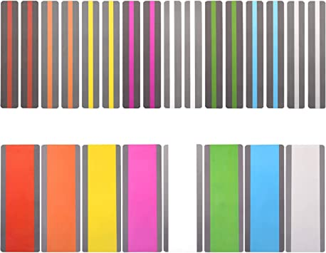 24 Pack Reading Guide Strips Highlighter Colored Overlays Bookmark Read Strips Assorted Colors Strips For Children Teacher Dyslexia People 8 Colors Office Products